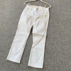 J. Crew Matchstick Surplus white cargo jeans 28